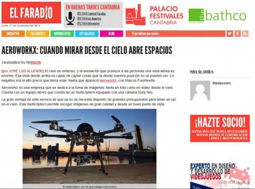 Aeroworkx en El Faradio. Una empresa dedicada a las imágenes aéreas,